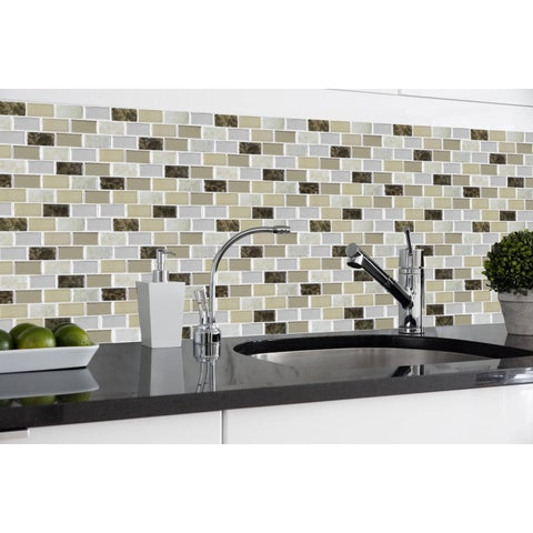 Magic Gel Bronze Granite 9.125x9.125 Self Adhesive Vinyl Wall Tile - 1 Tile/0.75 sq Ft.