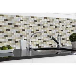 Magic Gel Bronze Granite 9.125x9.125 Self Adhesive Vinyl Wall Tile - 1 Tile/0.75 sq Ft.