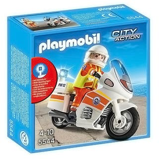 PlayMobil Emergency Motorcycle with Light|https://ak1.ostkcdn.com/images/products/14192515/P20789147.jpg?impolicy=medium