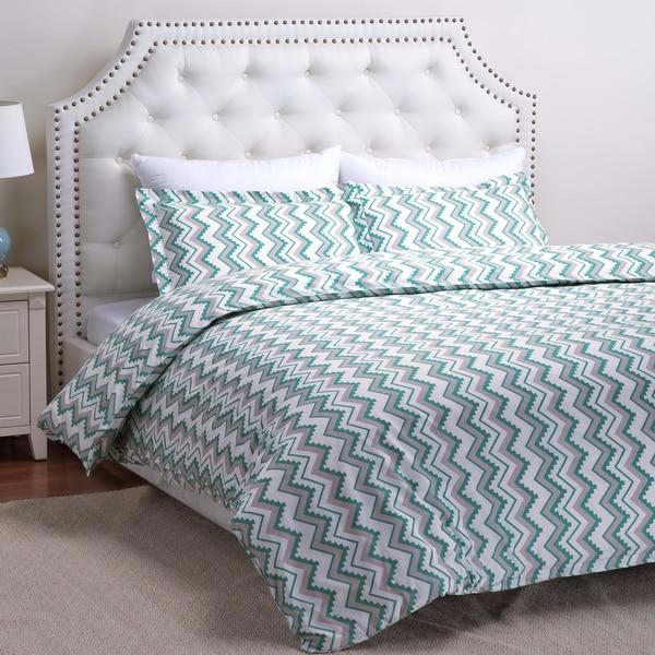 Duvet Cover Set Geometric Zigzag by Bedsure Designs