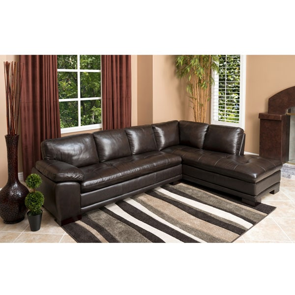 abbyson living frankfurt dark brown leather double flip top storage