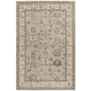 Safavieh Royalty Hand-Woven Wool Silver / Cream Area Rug (4' x 6')