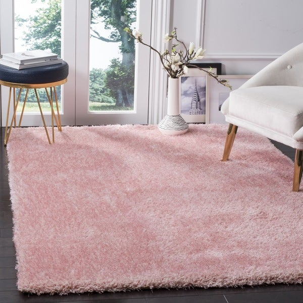 Shop Safavieh Toronto Handmade Pink Shag Rug