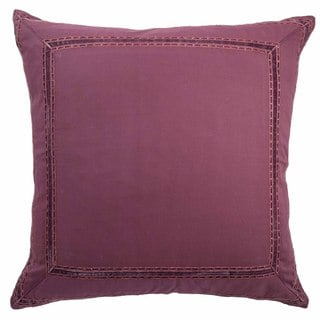 Blissliving Home Rachida Red Cotton Embroidered Euro Sham