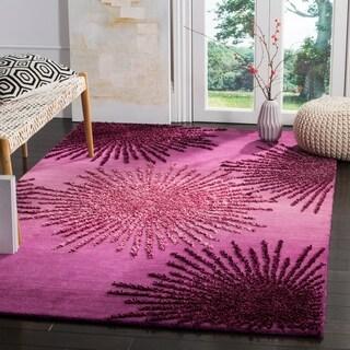 Safavieh SoHo Hand-Woven Wool Purple Area Rug (3'6 x 5'6)
