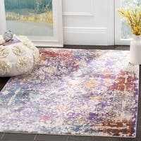 Safavieh Sutton Watercolor Lavender/ Ivory Rug - 4' x 6'