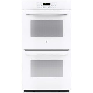 GE White 27-inch Built-In Double Wall Oven