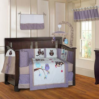 BabyFad Owl Purple 10-piece Crib Bedding Set|https://ak1.ostkcdn.com/images/products/14193282/P20789588.jpg?impolicy=medium