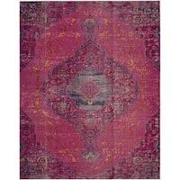 Safavieh Artisan Vintage Bohemian Fuchsia Pink/ Multi Distressed Rug (5' 1 x 7' 6)
