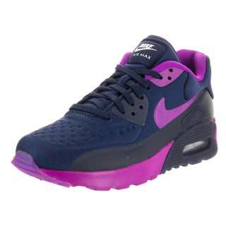 Nike Kids' Air Max 90 Ultra SE (GS) Blue/Purple Textile Running Shoes