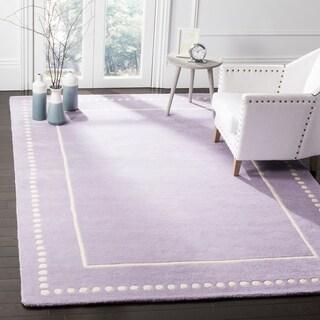 Safavieh Bella Contemporary Handmade Lavender / Ivory Wool Rug (6' x 9')
