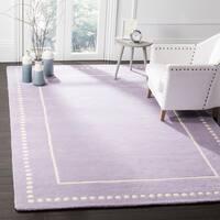 Safavieh Bella Contemporary Handmade Lavender / Ivory Wool Rug - 6' x 9'