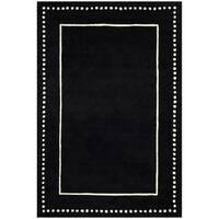 Safavieh Bella Contemporary Handmade Black / Ivory Wool Rug - 6' x 9'