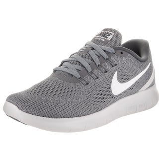 Nike Women's Free Rn Grey Synthetic Leather Running Shoes