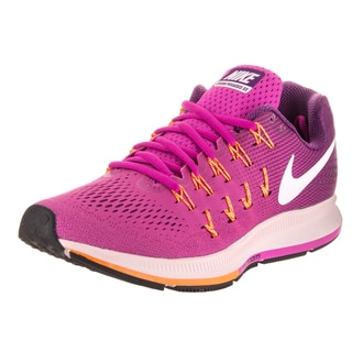 Nike Women's Air Zoom Pegasus 33 Purple Synthetic-leather Running Shoes