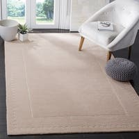 Safavieh Bella Contemporary Handmade Light Pink / Ivory Wool Rug - 6' x 9'
