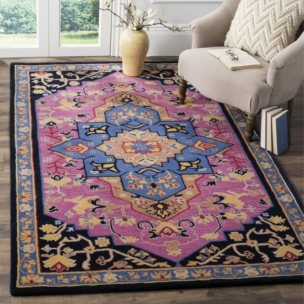 Safavieh Bellagio Hand Woven Wool Pink Multi Area Rug 5