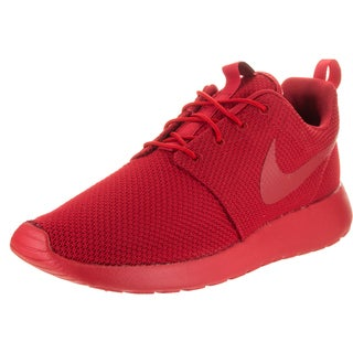 Nike Men's Roshe One Red Textile Running Shoes