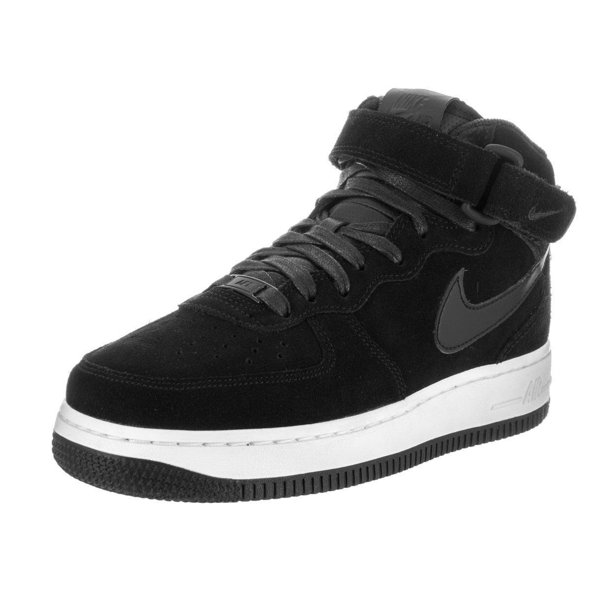 Nike Women's Air Force 1 '07 Black Suede Mid Seasonal Basketball shoes