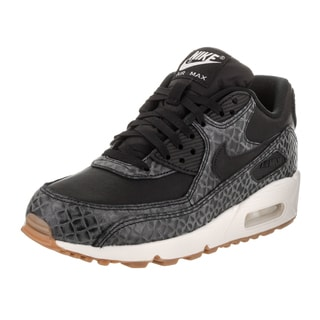 Nike Women's Air Max 90 Premium Black Synthetic Leather Running Shoe