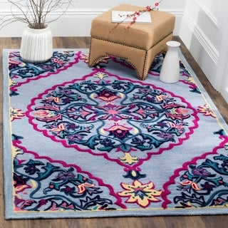 Safavieh Bellagio Hand-Woven Wool Blue / Multi Area Rug (5' x 8')