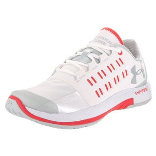 Under Armour Women's Charged Core White Synthetic Leather Training Shoes