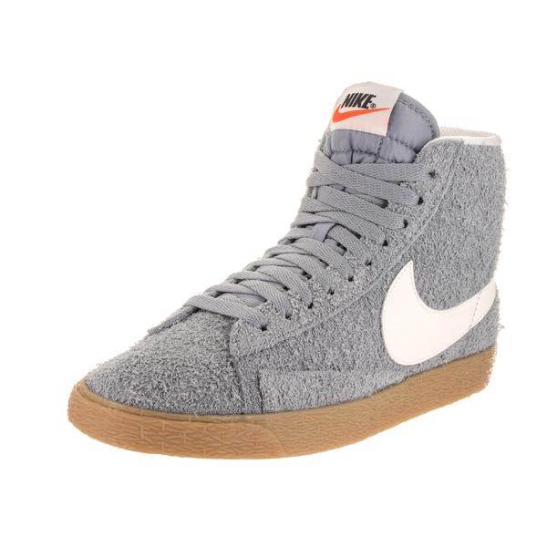 buy online bdaab e31ab Nike Women  x27 s Blazer Mid Grey Suede Vngt Casual Shoes