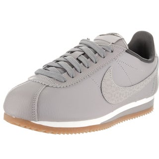 Nike Women's Classic Cortez Grey Synthetic Leather Lux Casual Shoes