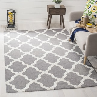 Safavieh Cambridge Hand-Woven Wool Grey / Ivory Area Rug (5' x 8')