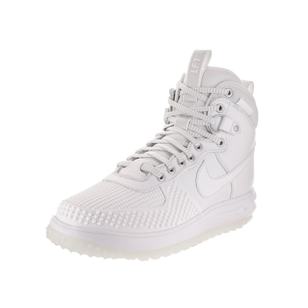a1cb406c1586 Shop Nike Jordan Men s Lunar Force 1 Duckboot White Leather Boots ...