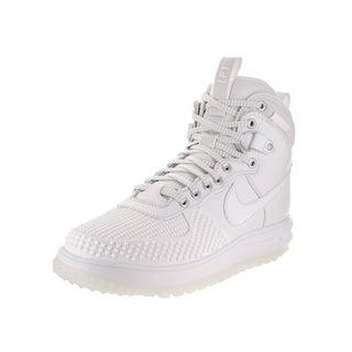Nike Jordan Men's Lunar Force 1 Duckboot White Leather Boots