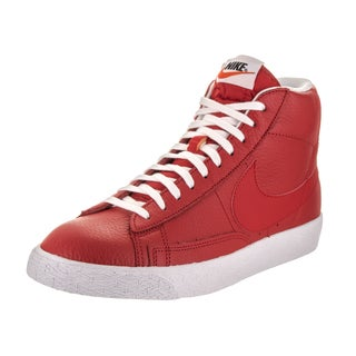 Nike Men's Blazer Mid Prm Red Synthetic Leather Casual Shoes