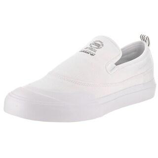 Adidas Men's Matchcourt White Canvas Slip Skate Shoe
