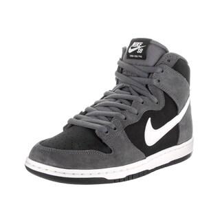 Nike Men's SB Zoom Dunk High Pro Grey Suede Skate Shoes