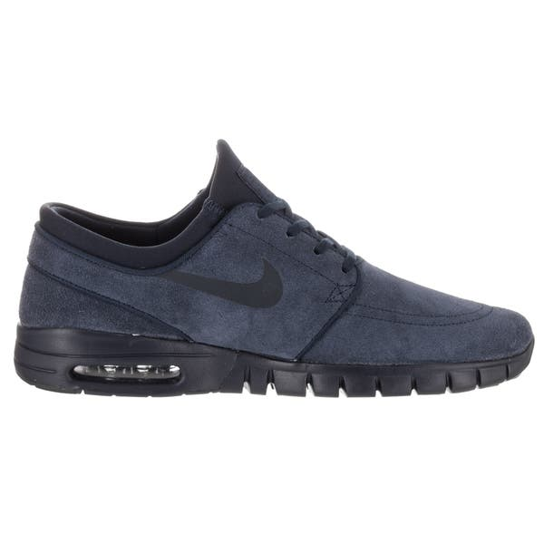 Subdividir En la actualidad dinámica  Shop Nike Men's Stefan Janoski Max L Blue Suede Skate Shoe - Overstock -  14193497