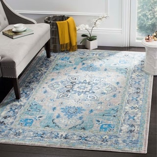 Safavieh Claremont Blue / Light Grey Area Rug (6' x 9'2)