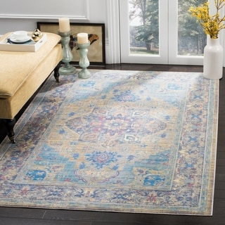 Safavieh Claremont Blue / Gold Area Rug (6' x 9'2)