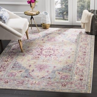 Safavieh Claremont Grape / Blue Area Rug (6' x 9'2)