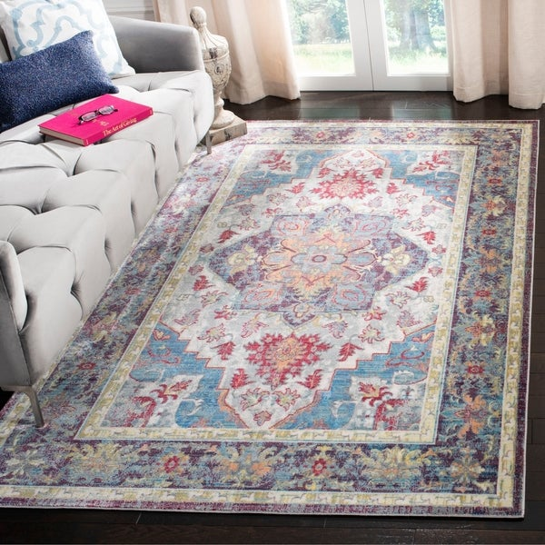 Shop Safavieh Claremont Blue Purple Area Rug 6 X 9 2 On