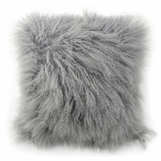 Blissliving Home Tanzania Halima Grey Lamb-fur Decorative Accessory Pillow