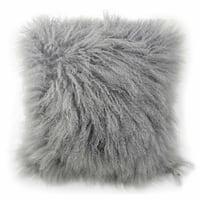 Blissliving Home Tanzania Halima Grey Lamb-fur Decorative Accessory Pillow