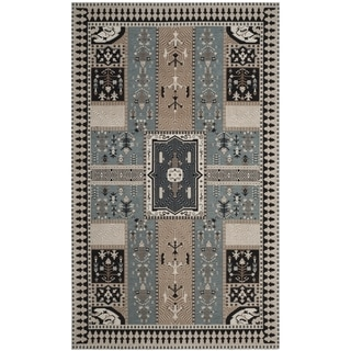 Safavieh Classic Vintage Boho Tomasa Oriental Cotton Rug (4 x 6 - Slate/Beige)