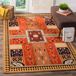 Safavieh Classic Vintage Bohemian Orange/ Gold Cotton Rug (5' x 8')