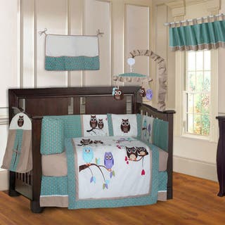 BabyFad Owl Turquoise 10-piece Crib Bedding Set|https://ak1.ostkcdn.com/images/products/14193565/P20789791.jpg?impolicy=medium