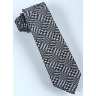 Brio Men's Black/White Plaid Dress Tie