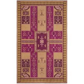 Safavieh Classic Vintage Boho Tomasa Oriental Cotton Rug (67 x 92 - Fuchsia/Gold)