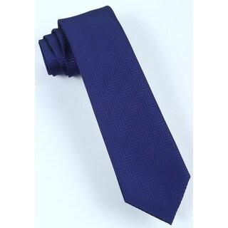 Brio Men's Royal Blue Patterned Dress Tie
