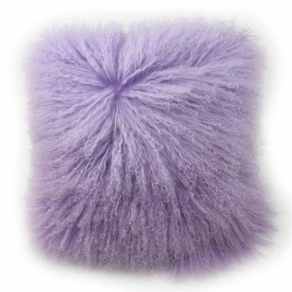 Shop Blissliving Home Tanzania Halima Purple Faux Lamb Fur