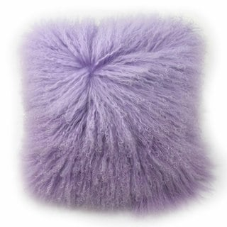 Blissliving Home Tanzania Halima Purple Faux-lamb-fur Decorative Throw Pillow