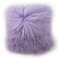Blissliving Home Tanzania Halima Purple Faux-lamb-fur Decorative Throw Pillow